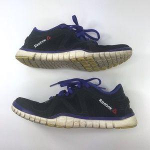 Reebok CrossFit Purple Black Running Shoes 7 1/2